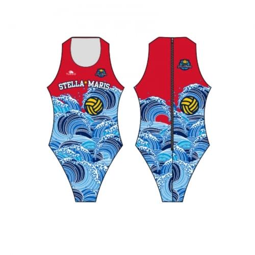 Bañador Stella Maris azul y rojo